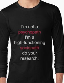 Sherlock quote Long Sleeve T-Shirt