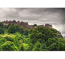 Gathering Storm over Edinburgh Castle Photographic Print