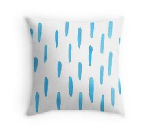 Indigo Rain Throw Pillow