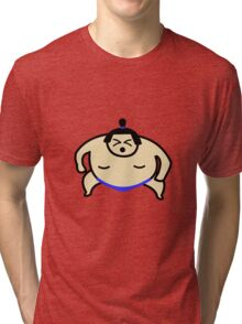 Animated Sumo Wrestler Tri-blend T-Shirt