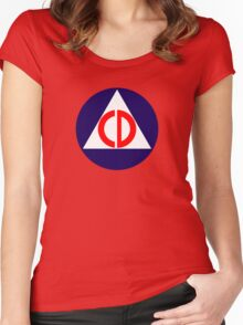 Civil Defence Women's Fitted Scoop T-Shirt