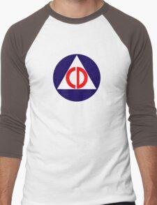 Civil Defence Men's Baseball ¾ T-Shirt
