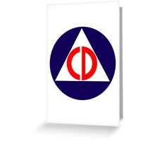 Civil Defence Greeting Card