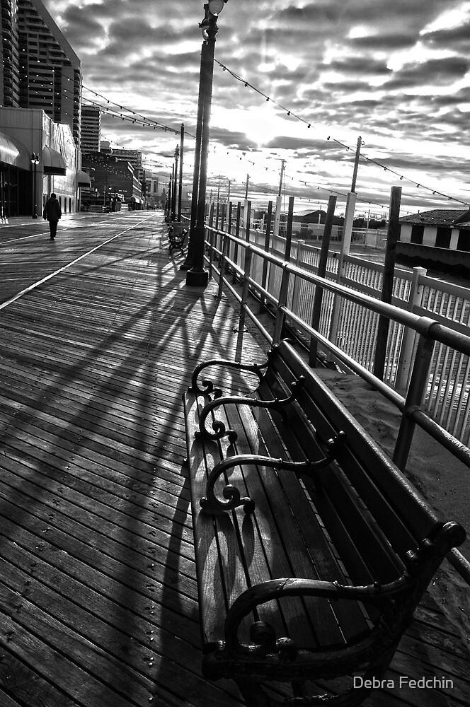 Boardwalk in Atlantic City by Debra Fedchin