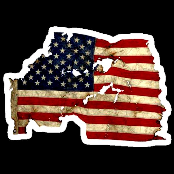 Torn American Flag by matpalmer