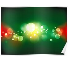 Lights, vector background Poster