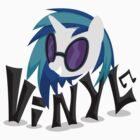 Vinyl Scratch Stylized Vector by yohoat9