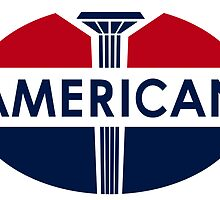 American Gas Station sign. Flat and clean version by htrdesigns