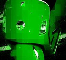 Green Vespa - Pixels by Amanda Vontobel Photography/Random Fandom Stuff