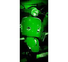 Green Vespa - Pixels Photographic Print