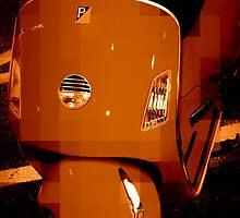 Orange Vespa - Pixels by Amanda Vontobel Photography/Random Fandom Stuff