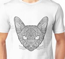 Devon Rex Cat - Complicated Coloring Unisex T-Shirt