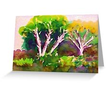 Woodlen scene, watercolor Greeting Card