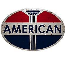 American Gas Station sign. Rusted version Photographic Print