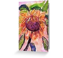 Its HOT out here, watercolor Greeting Card