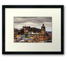 Looking to the Old Town Framed Print