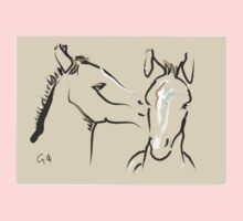 Pillow horse together 6 Kids Tee