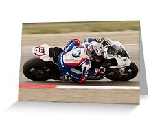 MARCO MELANDRI at Miller Motorsports park 2012 Greeting Card