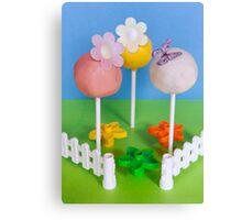 Springtime cake pops Canvas Print