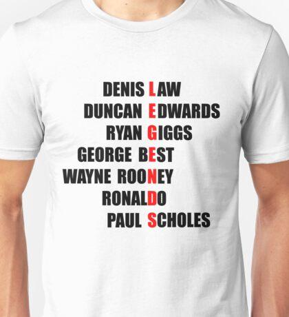 Manchester United Legends Unisex T-Shirt