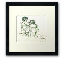 Green Talk Framed Print