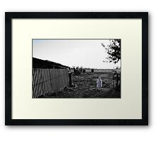 Charlotte & The Cows Framed Print
