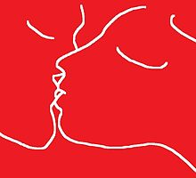 The Kiss -(190912)- Digital artwork/MS Paint by paulramnora