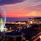 Brighton Nightscape V by Erika  Szostak