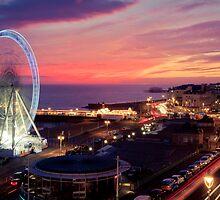 Brighton Nightscape V by Erika  Szostak