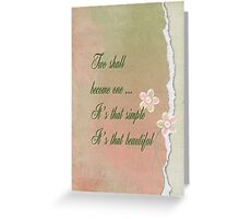 Wedding Quote Greeting Card