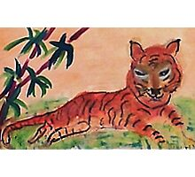 Young tiger, watercolor Photographic Print