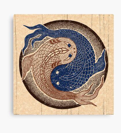 yin yang fish, shuiwudao mandala Canvas Print