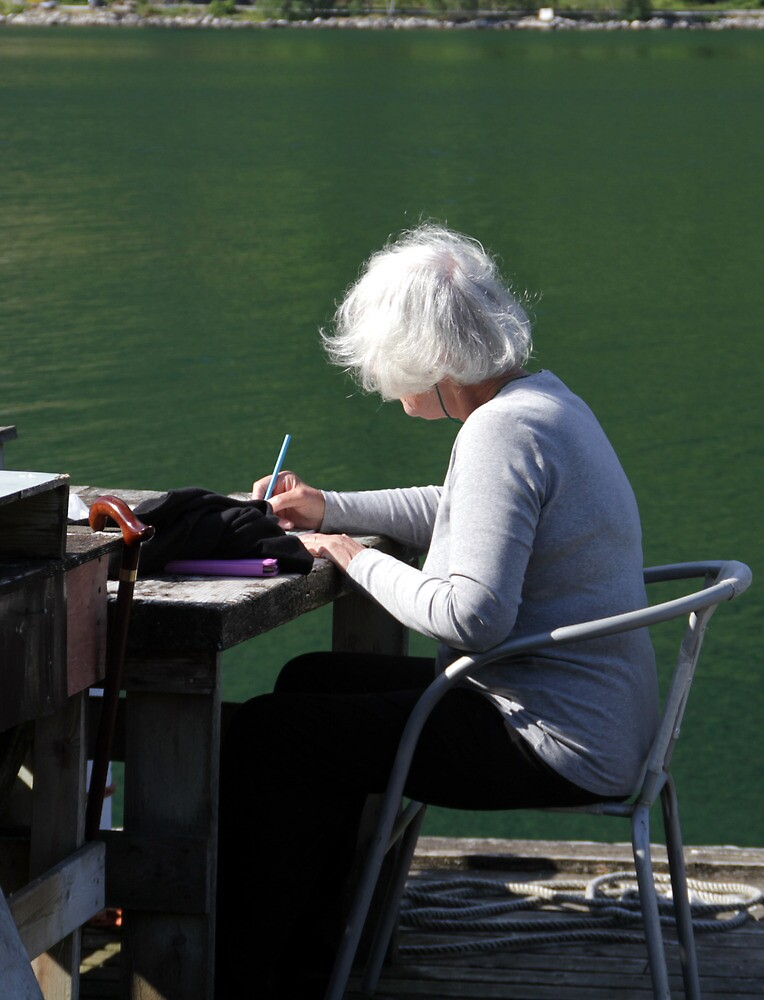 Painting in Balestrand, Norway by Freda Surgenor
