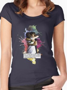larry hug watercolor Women's Fitted Scoop T-Shirt