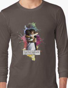larry hug watercolor Long Sleeve T-Shirt