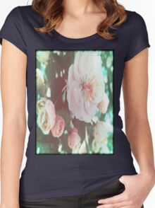 Crabapple Blossoms with Flare™ Women's Fitted Scoop T-Shirt