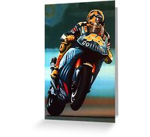 Jumping Valentino Rossi Painting Greeting Card