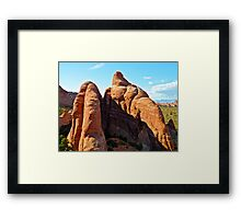Climbing in Arches Framed Print