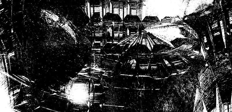 On the Fringe (B/W version) by Benedikt Amrhein