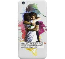 larry hug watercolor iPhone Case/Skin