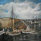 Pier, Warehouse Old New York, Philadelphia RR, Norfolk, Virginia 1893 by Jsimone