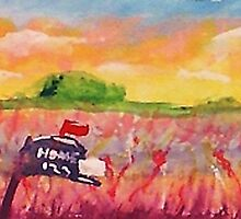 Country mail box, watercolor by Anna  Lewis