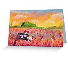 Country mail box, watercolor Greeting Card