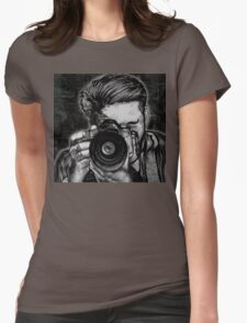 Wide Angle Lens Womens Fitted T-Shirt