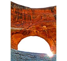 Sneaky Sunshine- Circle Arch Photographic Print