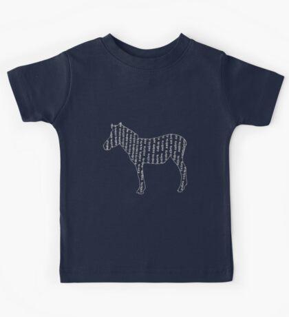 Zebra typography Kids Tee