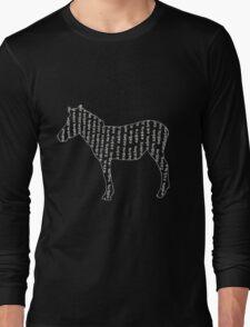 Zebra typography Long Sleeve T-Shirt
