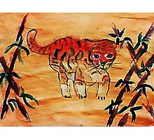 Kitty, tiger, watercolor Photographic Print