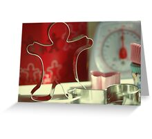 cup cakes and cookies men Greeting Card