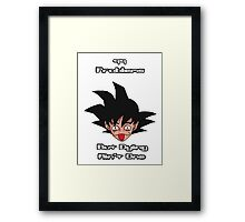 Goku - 99 Problems Framed Print